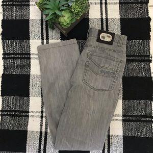 Gucci Denim Medallion Arkansas Jeans in Grey